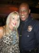 Christine Heathman and Assistant Chief Earl C. Paysinger of the L.A.P.D.