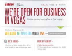 Unidev Las Vegas office announcement