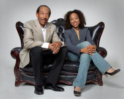 Lauren and William Hamilton, father and daughter dating advice duo, take pictures for their upcoming book -- How to Get Real About Dating: A Father and Daughter's Guide to Finding Love at Any Age.