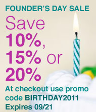 Up to 20% off all products sold at Oreck.com during its Founder's Day Sale through September 21st.