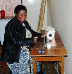 "Zambian Woman Making a ""Bana"" Bag"