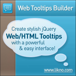 Likno Web Tooltips Builder: create stylish HTML tooltips for your websites with a powerful desktop application
