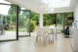 Folding sliding doors for an extension