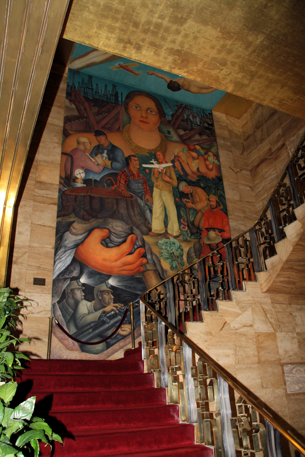 The city club celebrates 80th birthday of diego rivera s for Diego rivera mural in san francisco