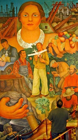 The city club of san francisco commemorates the 125th for Diego rivera mural in san francisco