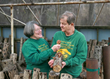 Shiitake Farmers Sandra and Doug Williams of Lost Creek Mushroom Farm, Perkins. Oklahoma USA