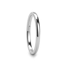 PHILADELPHIA Domed White Tungsten Wedding Band - 2mm