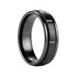 Lonan Black Titanium Ring Raised Grooved Center by Benchmark- 7mm