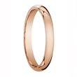 ROUGE Light Weight Domed Polished Finish 14k Rose Gold Wedding Band - 2mm -10mm