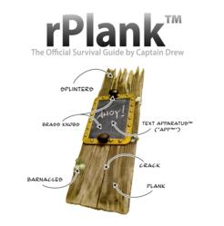 Book cover for technical manual about the rPlank, featuring illustrated description of elements of the rPlank.