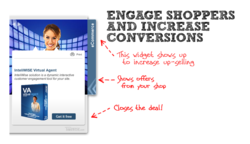 This virtual agent widget will slide out as a widget with ecommerce message