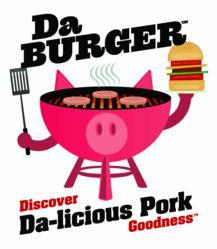 DaBurger Pork Burger Patty da-licious logo from Illinois Pork Producers Association