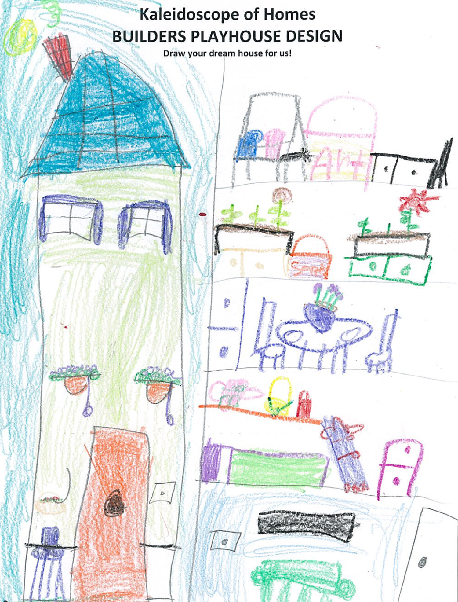 Scottish rite patient s dream house drawing comes to life for My dream house drawing