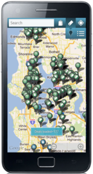 Point Inside Android Application, deals and maps