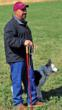 Lavon Calzacorta with champion border collie Tess