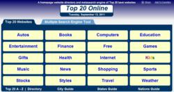 Top 20 Online home page