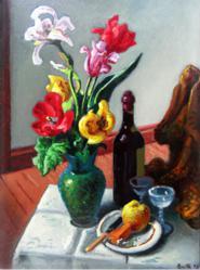 Wine for Rita, 1943, by Thomas Hart Benton