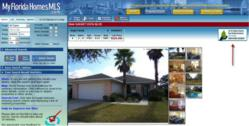screenshot of a home on www.MyFloridaHomesMLS.com that is eligible for Down Payment Resource