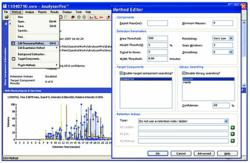 AnalyzerPro identifies & measures components in LC/MS and GC/MS mass spectrometry data