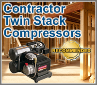twin stack air compressor, twin stack compressors, twin stack air compressors, contractor twin stack compressor