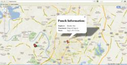 Time and Attendance Software GPS Employee Map