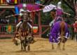 Jousting Knights on horse back battle three times daily at the Carolina Renaissance Festival