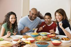 Balanced family meals help raise healthy, sucessful children.