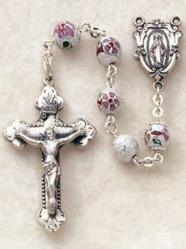 The Sterling Silver Cloisonne Rosaries are one of many types of rosary necklaces offered by Discount Catholic Products.