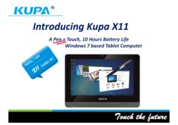 Kupa X11 Microsoft Windows8 tablet computer tabletpc HTC Acer Windows Enterprise Business spc sharepoint