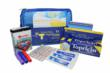 "The new ""Boo Boos Happen"" first aid kit for kids comes with Topricin Junior and ""Ouchie"" design-your-own adhesive bandages in a zippered pouch that fits other essentials"
