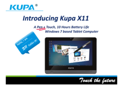 Kupa X11 Microsoft Windows8 tablet computer tabletpc HTC Acer Windows Enterprise Business spc sharepoint