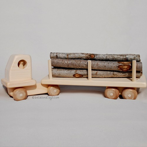 Wooden Toy Trucks for Pinterest