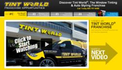 Tint World auto franchise site screenshot