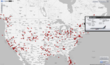 planefinder.net live flight tracker showing real time air traffic over the USA