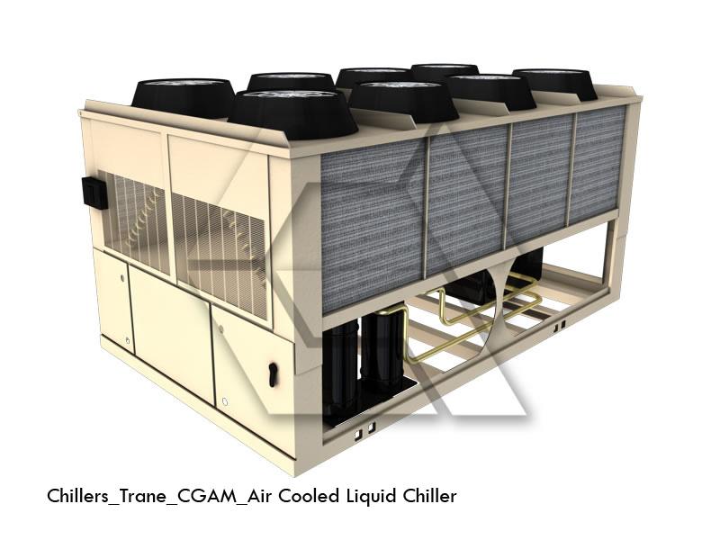 3D model accurately represents Trane?s CGAM air cooled liquid ...
