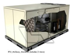 3D image represents McQuay Maverick RTU equipment