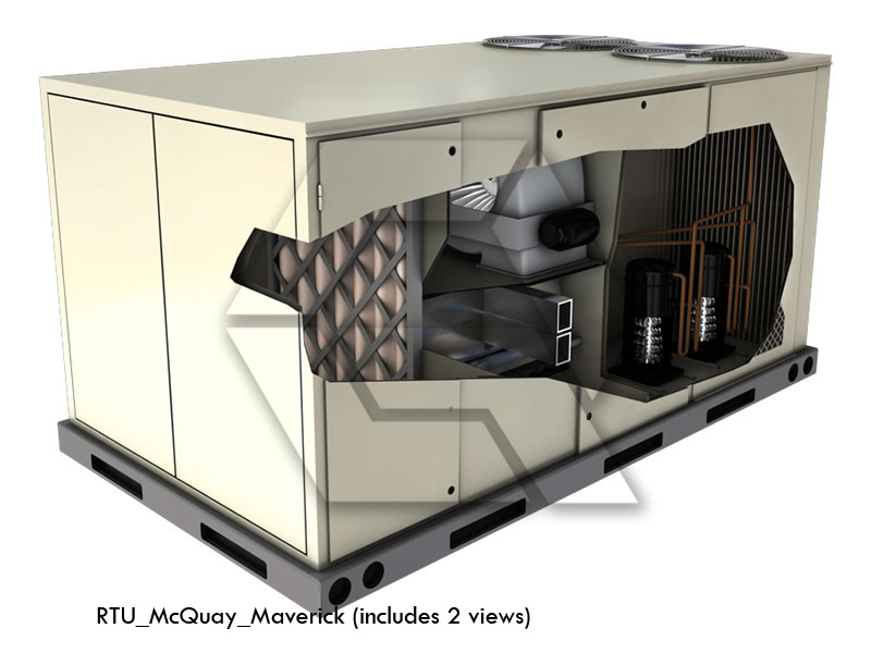 Rooftop Unit Image Rtu Image Illustrates Hvac Design Capabilities High End  Graphic