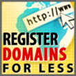 Register Domains for Less!