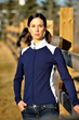 TerraFrog Navy and White Yoga Warm Up Jacket