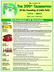 Little Falls, NJ, 300th celebration of Little Falls, events schedule of little falls 300th anniversary
