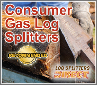 consumer gas log splitter, consumer gas wood splitter, gas log splitter, best gas log splitters