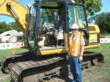Participants learn to operate Excavators which participating at People at Play.
