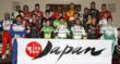 "IZOD IndyCar Driver's Group Photo Supporting the ""With you Japan"" Program"