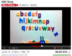 The Alphabet Song by Super Simple Songs has over 68,000,000 views and counting