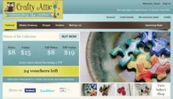 Crafty Attic offers daily deals on handmade goods, craft supplies, and vintage findings