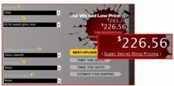Screenshot of Super Secret Ninja Pricing