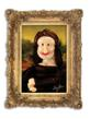 "Airigami's Larry Moss tribute to Da Vinci's ""Mona Lisa"" using balloon sculpture, photography and illustration"
