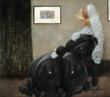 Using balloons, illustration and photography, Airigami pays tribute to James McNeil Whistler's famous Whistler's Mother
