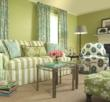 Sofa slipcovered in an awning stipe from Calico Corners-Calico Home.
