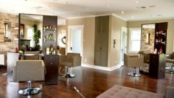 interior shot of the Chaz Dean Salon in Hollywood
